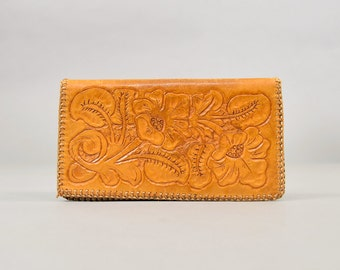 Tooled Leather Billfold Wallet
