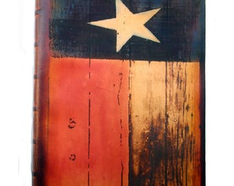 Texas Flag Leather Hand Crafted Executive Journal