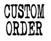 Custom order for Saz Lea