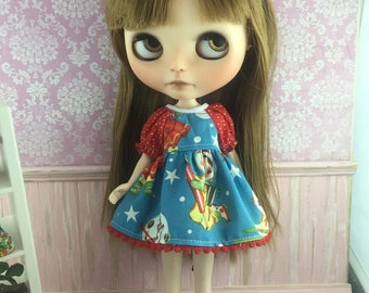 Blythe Dress with sleeves  - Retro Space Kids