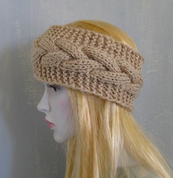 Knitted Headband Patterns Wide : Lace knit headband knitted headband headband hand knit