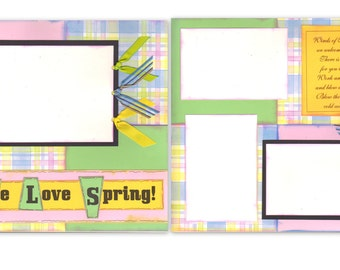 12x12 2pg. Layout - We Love Spring!