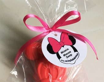 MOUSE Party Soaps - Adorable Lush Minnie inspired Mouse Birthday Party Favors - Wrapped, Ribbon, Ready to Give and Custom Options Available