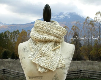 Pearls Handmade Fall and Winter Scarf for Women. Made in Montana. Ready to Ship.