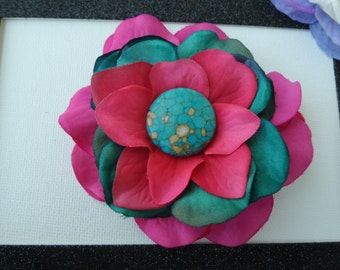 Floral Hair Berrette~Hair Clip~Hair Accessorie~Gift for Her~Valentines Day Gift
