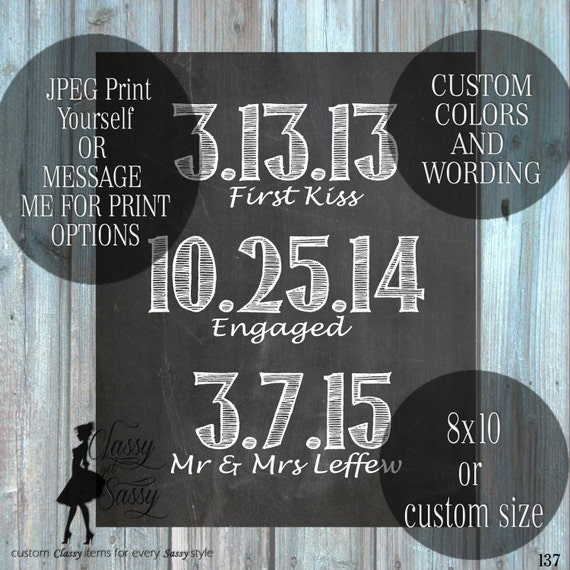 Love Time Line, Wedding Gift, Love Story Printable Customized Subway Art Printable Our Epic Love Story 137