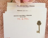 Silje's 75 Wedding Advice Cards for the Mr. & Mrs. WHITE Cardstock