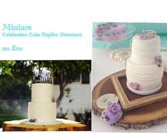 Custom Wedding Cake Replica Ornament Simple First Anniversary Birthday Holiday Gift! Stocking Stuffer!