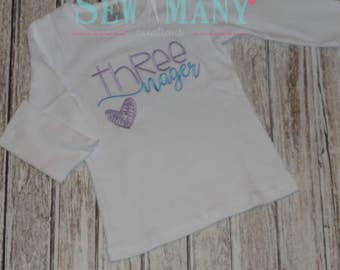 Third Birthday Shirt Three Nager any color