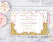 SALE Twinke Twinkle Invite Twinkle Twinkle Invitation Little Star 5x7 Jpeg DIGITAL File