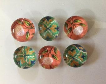 Set of  6 bubble magnets