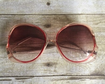 Vintage Over sized Round Sunglasses