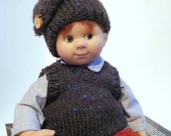 Tank top and hat handmade for Wichtel Müller doll