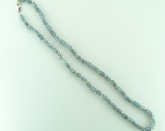 Kyanite (Grey Blue) Beautiful Stone Natural Gemstone Sterling Silver Necklace