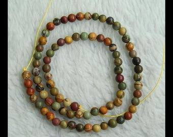 Multi-Color Picasso Jasper Loose Beads,1 Strand,40cm In the Lenght,5x5mm,14.6g(d0637)