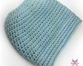 Beanie Crochet Pattern, Beanie For Bun, Messy Bun Hat, Hat Patterns, Messy Bun Crochet Patterns, Easy Crochet