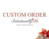 Custom listing for Irene /  Personalized 14K Gold Filled, Sterling Silver or Rose Gold Beaded Bracelet / Grandma We Love you