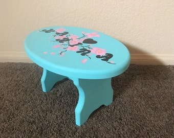Wooden Custom Made Stool/Bench with Name