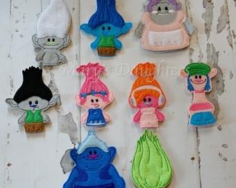 Troll Inspired Finger Puppets
