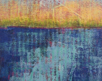 Small Paintings...Abstract Landscape Art...Small Art 8x10...Original Art...Ready to Hang