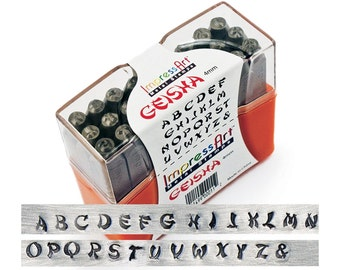 CLEARANCE: ImpressArt - Uppercase Alphabets 4mm Geisha Stamp Set Model as shown in picture (4936-Clearance)/1