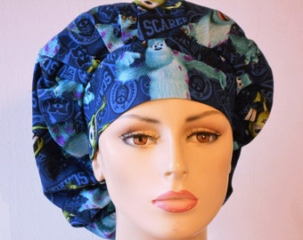 Medical Bouffant Scrub Hat -Shrek Disney Mike And Sully Toss All Over With A Matching Headband Scrub Hat