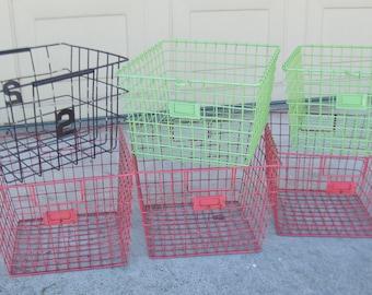 Vintage Wire Baskets - Vintage Gym Locker Baskets