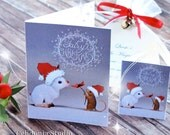 Fairy Christmas Greeting Cards - From Celidonia's Little Friends - JPEG Instant Download