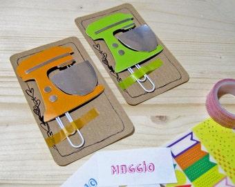 Mixer Planner Clip, Mixer Paper Clip, Planner Accessories, Stationery, Paperclips, Kitchen Mixer Planner Paper Clip, Kikki Filofax