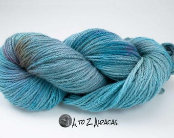 Royal Baby Alpaca Yarn Bulky Weight Hand Dyed Alpaca Yarn OOAK - Lake Shores