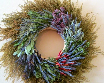 Lavender and Herb Wreath // 18 inch // Made To Order