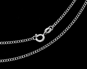 20 inches of 925 Sterling Silver Twisted Cable Chain Necklace 1.8x2 mm.,Delicated chain   :th2562-20