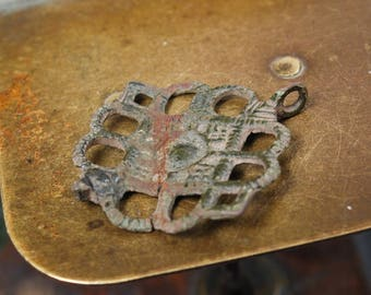 Antique metal charm,pendant,  parts of  old jewelry, part
