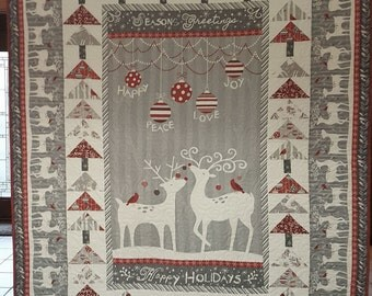 Modern Christmas Holiday Lap Quilt