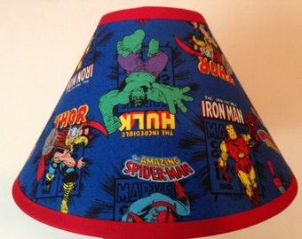 Marvel Comics Superheroes Fabric Childrens Lamp Shade