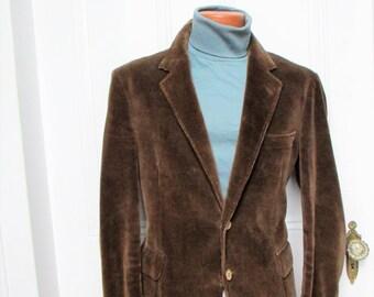 70's Vintage Men's Egon Von Furstenberg Corduroy Blazer Jacket 41