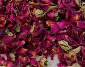 Dried ROSES Petals & Buds Organic, 1-6 Cups // 100% Natural Biodegradable Ecofriendly Wedding Flower Pink Red 1 2 3 4 5 6 oz