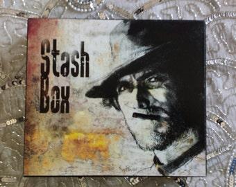 Clint Eastwood Decoupage Cigar Stash Box