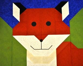 Fox Quilt Pattern - PDF