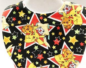 Pokemon Baby, Baby Bib, Toddler Bib, Baby Boy Bibs, Baby Girl Gift, Baby Gift, Pokemon, Baby Shower Gift, Handmade Baby, Baby Bibs