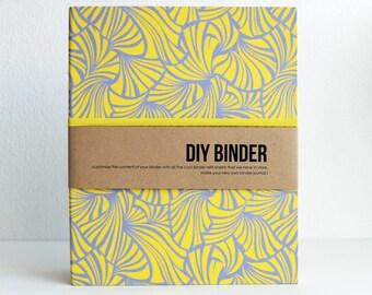 Binder Planner 6x8 (A5 sized) 2-Ring Folder with 2 FREE Refill Packs - Lemon Tulle