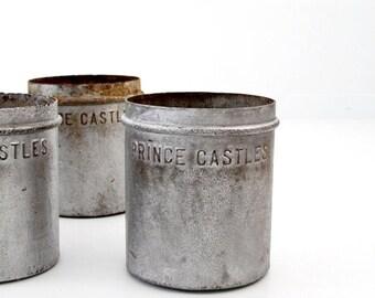 SALE antique metal ice cream bucket, Prince Castles Ice Cream, nostalgia ice cream can