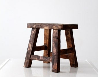 vintage Chinese stool, wood riser