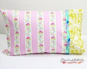 ZOEY Pink, Blue, Green Floral Pillowcase