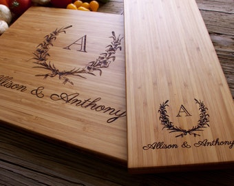 Engraved Cutting Board, Cutting Board Set, Personalized Cutting Board, Personalized Wedding Gift, Wedding Gift, Christmas Gift