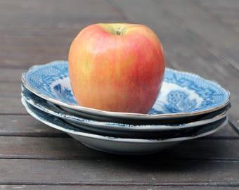 3 Vintage Blue Bowl - Blue transferware