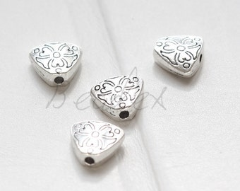 20 Pieces / Heart / Spacer / Oxidized Silver / Base Metal (X5910//H382)