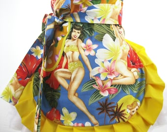 Hawaiian Pin Up Girl Apron