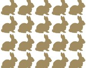 20 x Vinyl Easter Bunny Shaped stickers, each approx 3/4cm tall. Cardmaking, Scrapbooking, crafting, wall window mirror Furniture, Car Decor