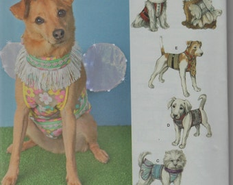 Simplicity pattern1482 Dog costumes, fairy, tuxedo, Santa...